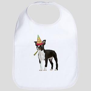Boston Terrier Birthday Bib