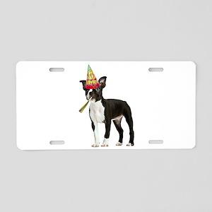 Boston Terrier Birthday Aluminum License Plate
