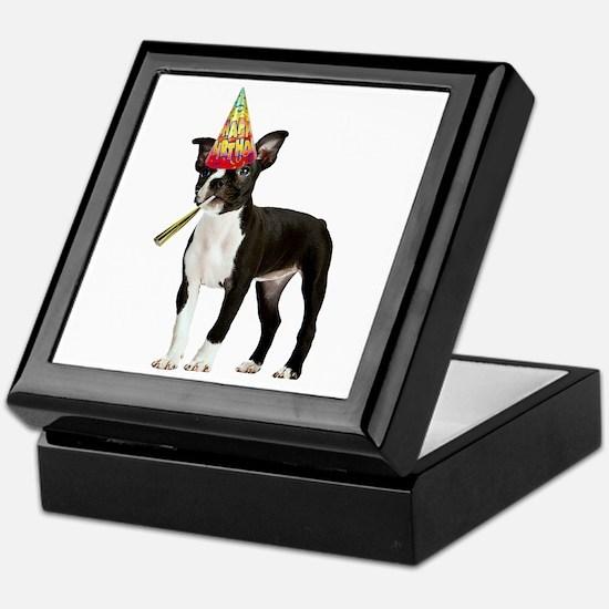 Boston Terrier Birthday Keepsake Box