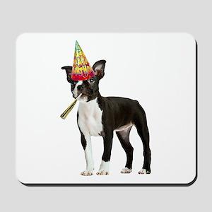 Boston Terrier Birthday Mousepad