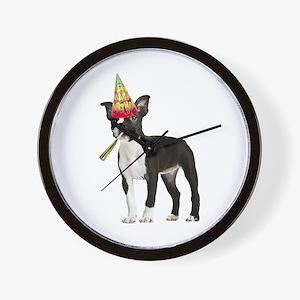 Boston Terrier Birthday Wall Clock