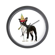 Boston Terrier Birthday Wall Clock