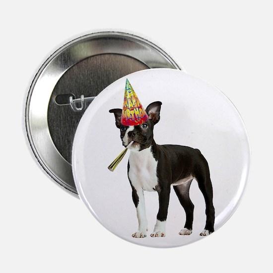 "Boston Terrier Birthday 2.25"" Button"