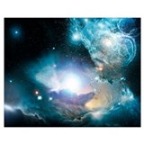 Black hole Wrapped Canvas Art