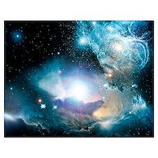 Primordial quasar, artwork Poster
