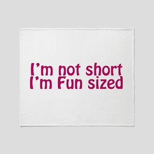 i'm Fun Sized Throw Blanket