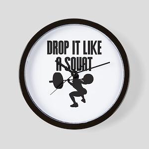 Drop it like a squat Wall Clock