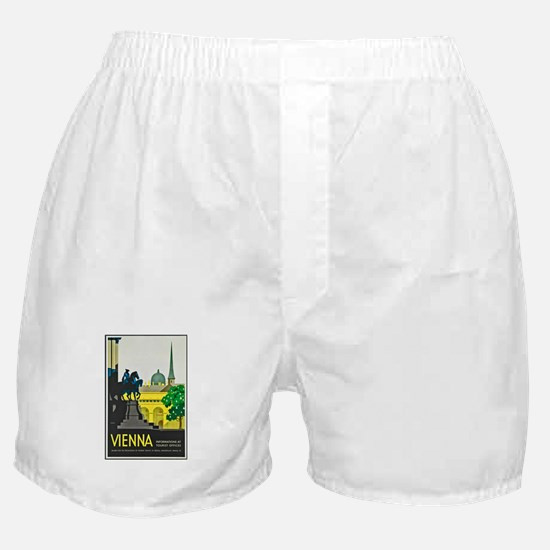 Vienna Travel Poster 1 Boxer Shorts