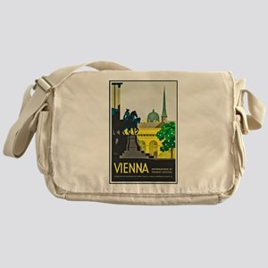 Vienna Travel Poster 1 Messenger Bag