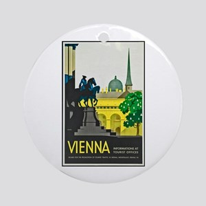 Vienna Travel Poster 1 Ornament (Round)