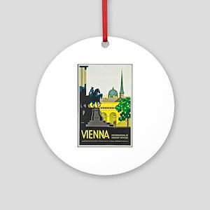 Vienna Travel Poster 1 Ornament (Round)