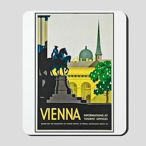 Vienna Travel Poster 1 Mousepad