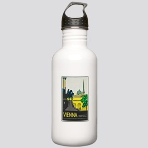 Vienna Travel Poster 1 Stainless Water Bottle 1.0L