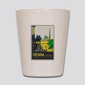 Vienna Travel Poster 1 Shot Glass
