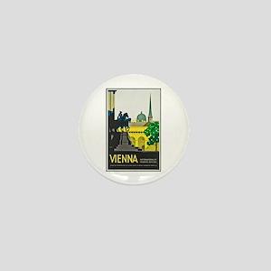 Vienna Travel Poster 1 Mini Button