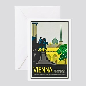 Vienna Travel Poster 1 Greeting Card