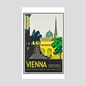 Vienna Travel Poster 1 Sticker (Rectangle)