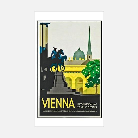 Vienna Travel Poster 1 Sticker (Rectangle)