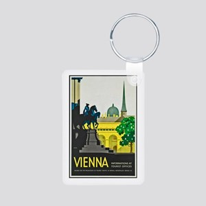 Vienna Travel Poster 1 Aluminum Photo Keychain
