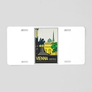 Vienna Travel Poster 1 Aluminum License Plate