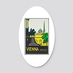 Vienna Travel Poster 1 Oval Car Magnet