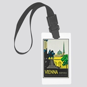 Vienna Travel Poster 1 Large Luggage Tag