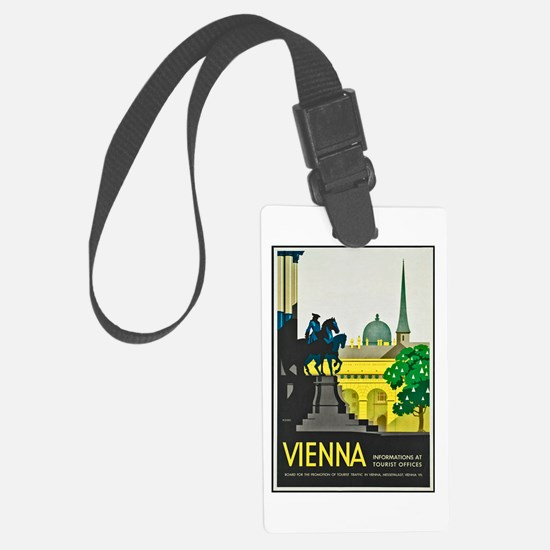 Vienna Travel Poster 1 Luggage Tag