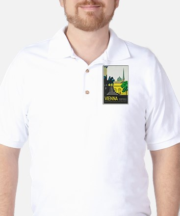Vienna Travel Poster 1 Golf Shirt