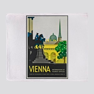 Vienna Travel Poster 1 Throw Blanket