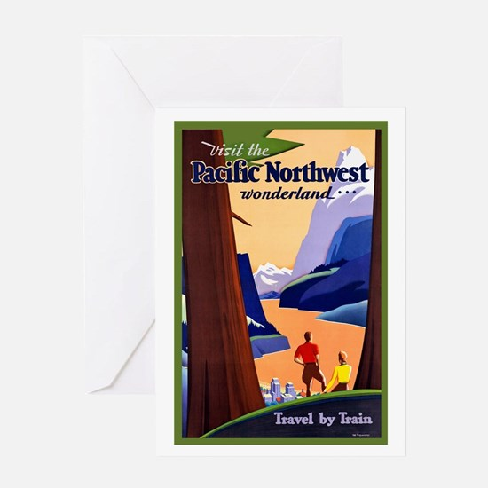 Pacific Northwest Travel Poster 2 Greeting Card