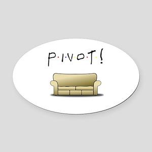 Friends Ross Pivot! Oval Car Magnet