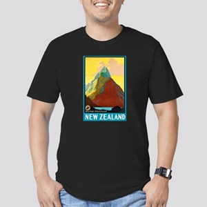 New Zealand Travel Poster 7 Men's Fitted T-Shirt (