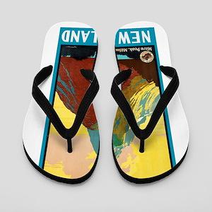 New Zealand Travel Poster 7 Flip Flops
