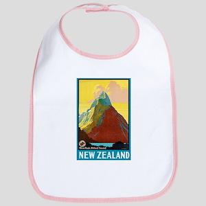 New Zealand Travel Poster 7 Bib