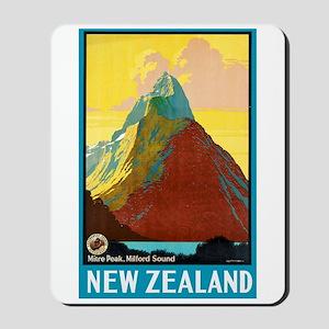 New Zealand Travel Poster 7 Mousepad