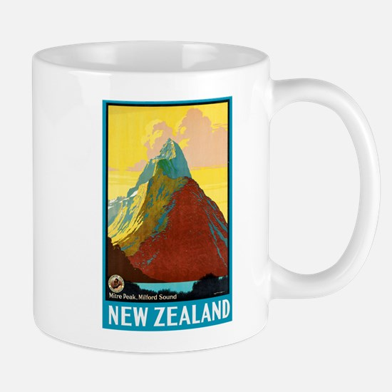 New Zealand Travel Poster 7 Mug