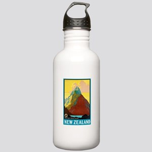 New Zealand Travel Poster 7 Stainless Water Bottle