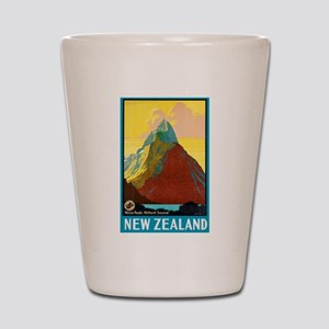 New Zealand Travel Poster 7 Shot Glass