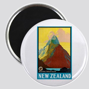 New Zealand Travel Poster 7 Magnet