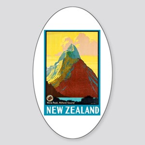 New Zealand Travel Poster 7 Sticker (Oval)