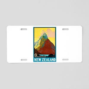 New Zealand Travel Poster 7 Aluminum License Plate