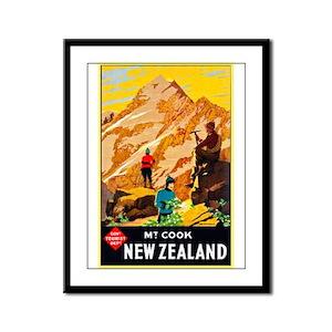 New Zealand Travel Poster 9 Framed Panel Print
