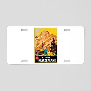 New Zealand Travel Poster 9 Aluminum License Plate