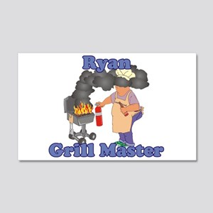 Grill Master Ryan 20x12 Wall Decal