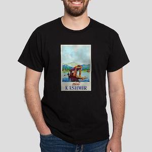 Kashmir Travel Poster 2 Dark T-Shirt