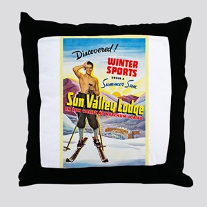 Idaho Travel Poster 1 Throw Pillow