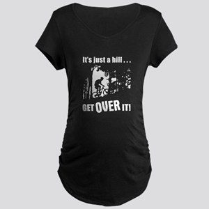 biker3 Maternity Dark T-Shirt