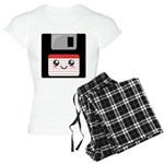 Cute Floppy Disk (Red) Women's Light Pajamas