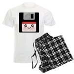 Cute Floppy Disk (Red) Men's Light Pajamas