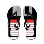 Cute Floppy Disk (Red) Flip Flops